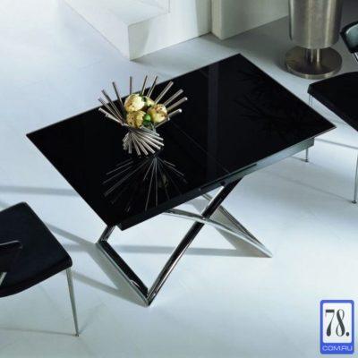 Стол-трансформер B2275 черное глянцевое стекло